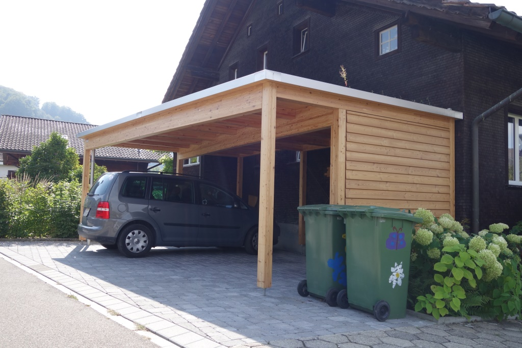 doppel carport holz natur baumberger bau ag. Black Bedroom Furniture Sets. Home Design Ideas