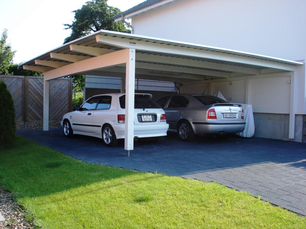 carport mit garage baumberger bau ag. Black Bedroom Furniture Sets. Home Design Ideas