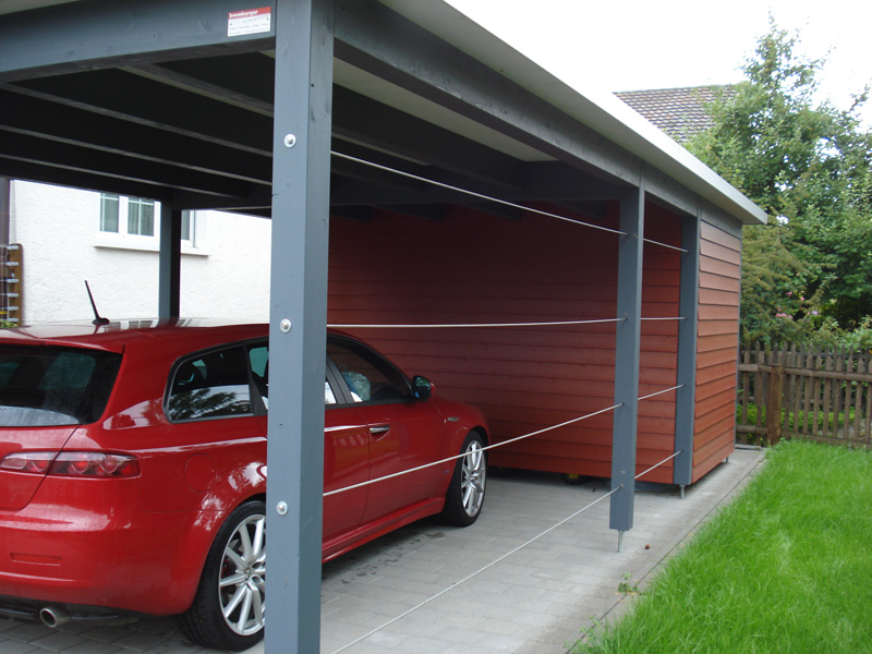 carport autounterstand garage aus holz baumberger bau ag. Black Bedroom Furniture Sets. Home Design Ideas
